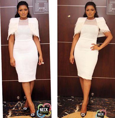 omotola  jolade ekeinde look pretty on her white outlook