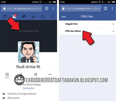 cara mengganti foto sampul fb