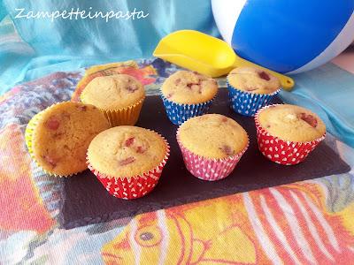 Muffin con ciliegie senza burro e senza latticini - Muffin  senza burro e senza latticini