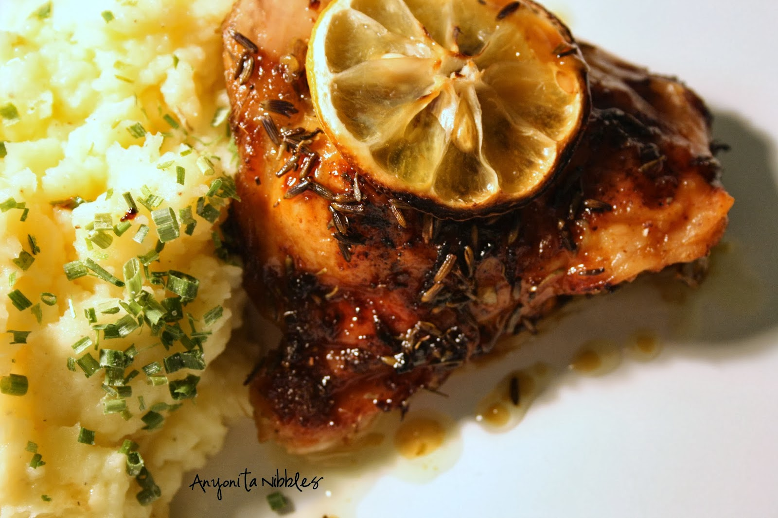 Rachel Khoo inspired Lemon & Lavender Oven Chicken with Mustard Mash | Anyonita Nibbles