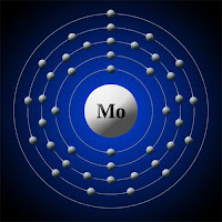 Molibden atomu elektron modeli