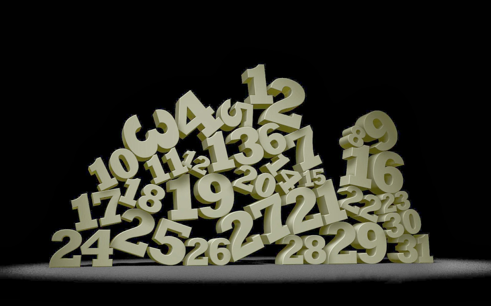 WOW: 3D Numbers Wallpapers