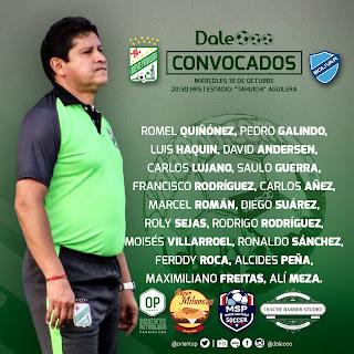 Convocados de Oriente Petrolero para enfrentar a Bolívar - Clausura 2017 - DaleOoo