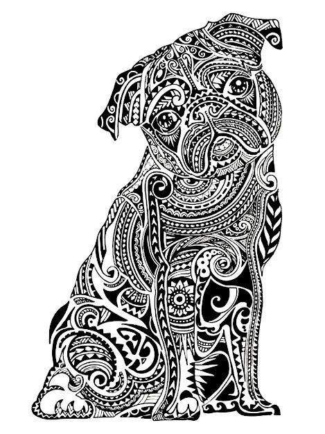 Image Animals Coloring Adult Difficult Little Buldog