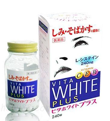 Viên uống Vita white plus C.E.B2 trắng da trị nám Nhật Bản