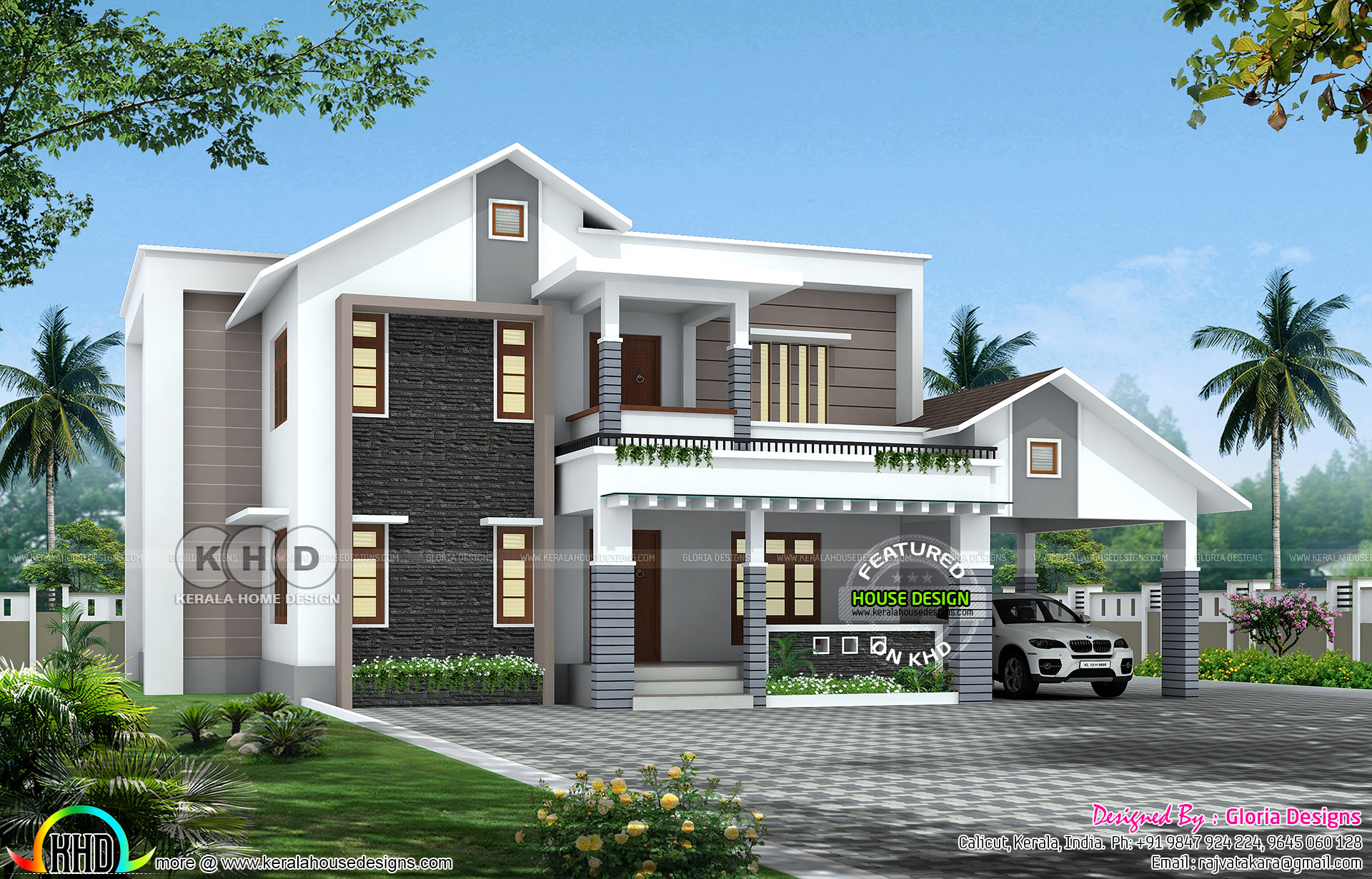 Lovely 4 Bedroom Mixed Roof Home Part - 12: Attached Bedrooms : 4. Design Style : Mixed Roof. Interior Ideas And  Facility Details. Read More » Please Follow Kerala Home Design