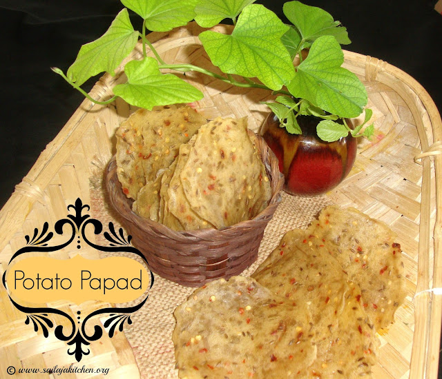 images of Potato Papad Recipe / Aloo Papad Recipe / Aloo ka Papad Recipe - How to make Aloo papad at home