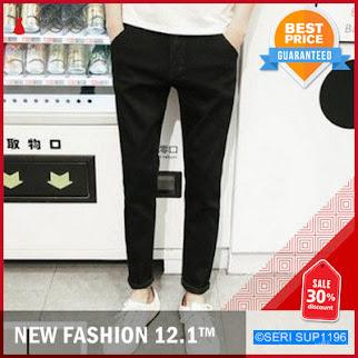 SUP1196P22 Plain Black Pekat Long Pants Jeans BMGShop