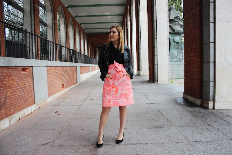 MFSHOW WOMEN | DAY 3. PINK SKIRT AND LEATHER JACKET