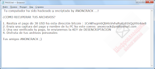 AnonCrack ransom note