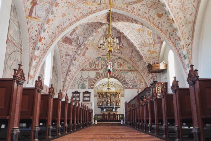Peintures médiévales de l'église danoise de Keldby au Danemark