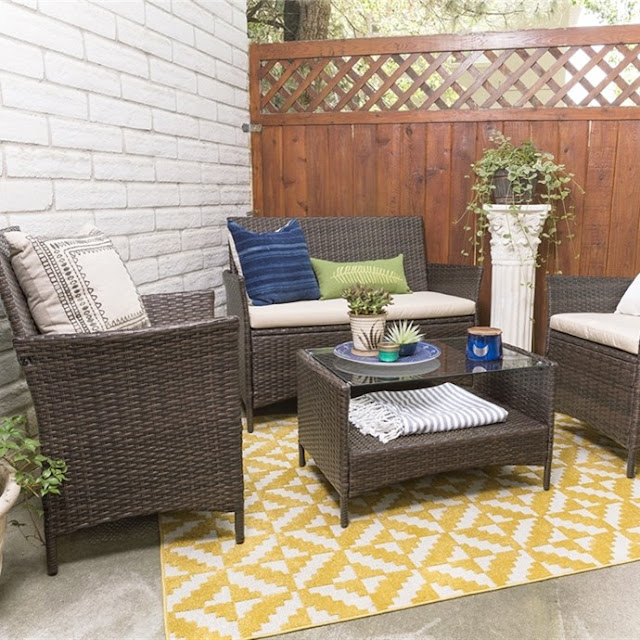 Jane: 4-Piece Patio Set only $200 (reg $800) + Free Shipping!