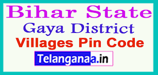 Gaya Nagar District Pin Codes in Bihar State