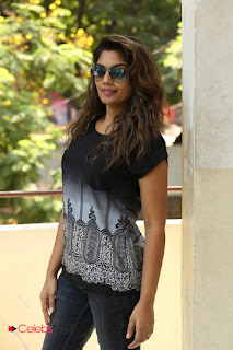 Actress Karuna Pictures in Jeans at Tholi Kiranam Press Meet 0004.JPG