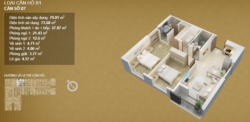 Căn hộ 07 tầng 34