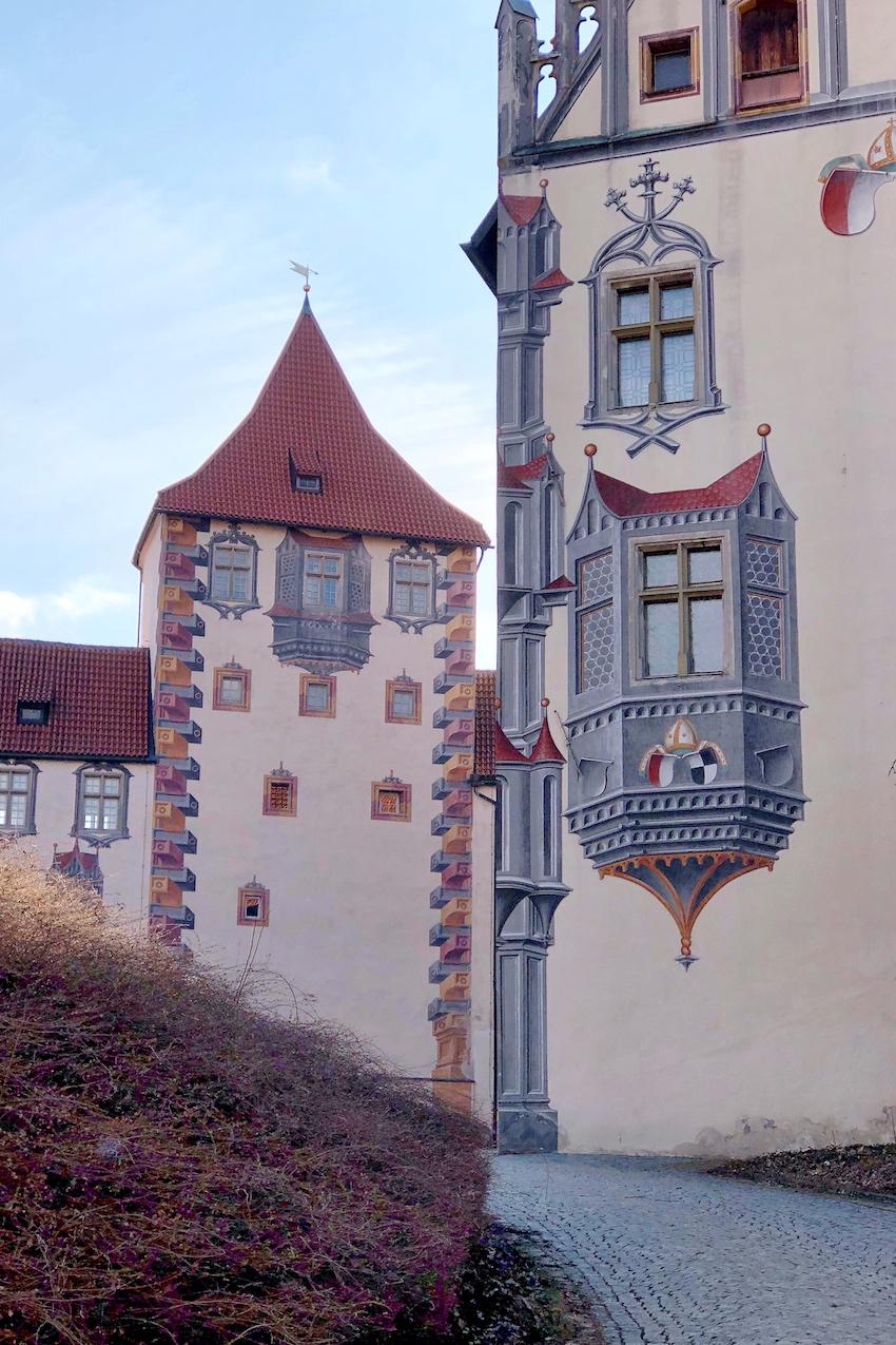 Illusionsmalerei im Innenhof, Hohes Schloss Füssen