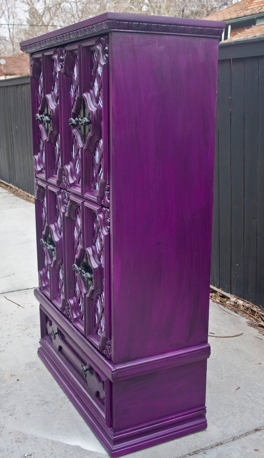Modernly Shabby Chic Furniture: Plum Purple and Zebra