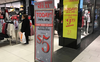 U.S. department store stocks jump on holiday spending record