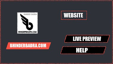 LIVE AND HELP OF BHINDERBADRA.COM
