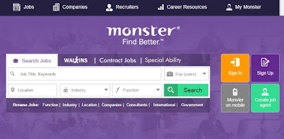 monster india job portal