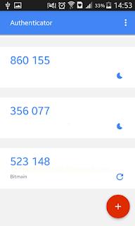 Hasil keluaran Berbasis Penghitung | Tutorial - Cara mengaktifkan Google Authenticator di Hashnest