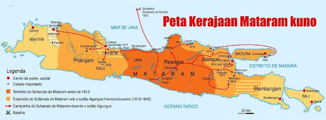 Gambar Peta daerah kekuasaan Kerajaan Mataram kuno