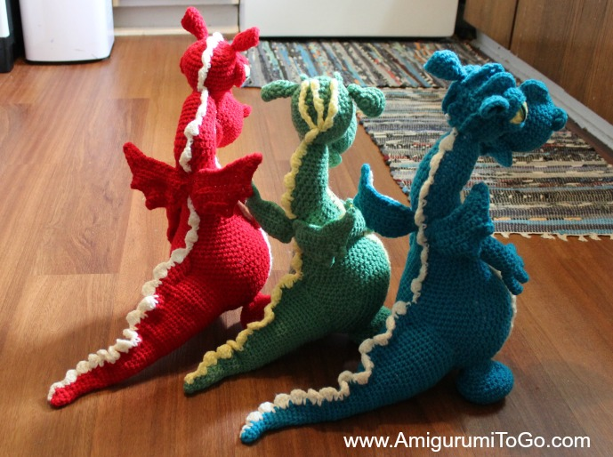 Large Amigurumi Pattern Free : Dragons In My Kitchen! ~ Free Pattern with Video Series ...