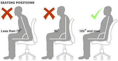 right sitting posture for long time working