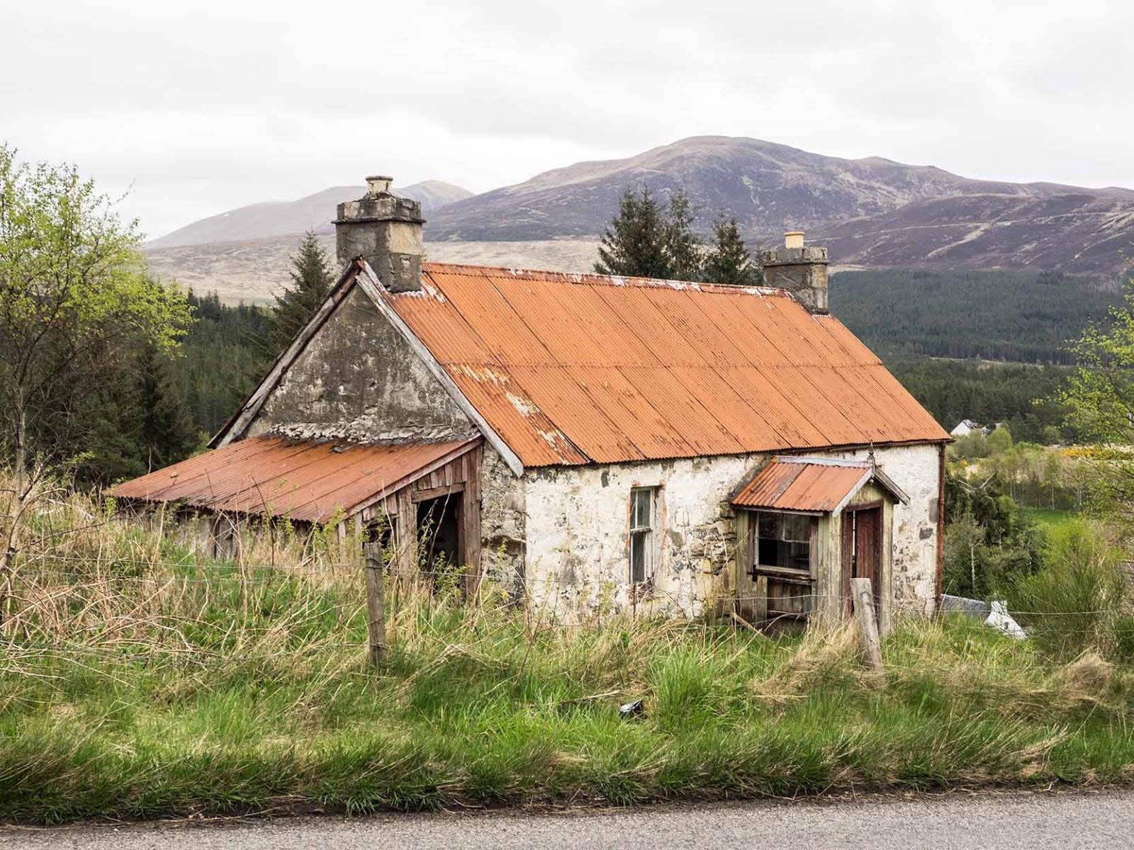 Old Stone Cottage In Scottish Highlands