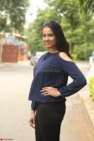Poojita Super Cute Smile in Blue Top black Trousers at Darsakudu press meet ~ Celebrities Galleries 048.JPG