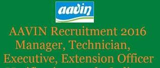 AAVIN Milk Recruitment 2016
