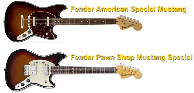 Fender Mustang American Special Vs Fender Pawn Shop Mustang Special