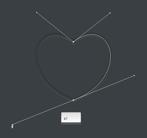 كيفية رسم قلب علي اداة البن تول