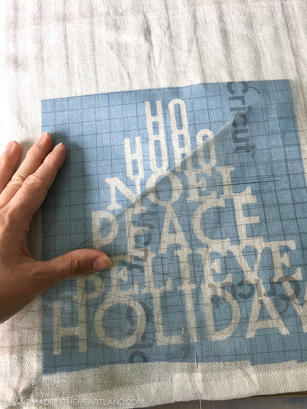 How to paint a tea towel with a stencil