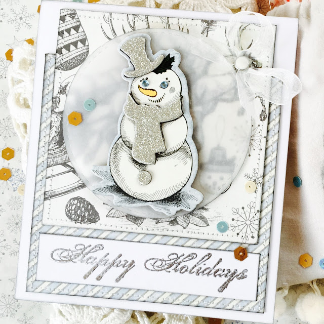 Christmas Card by Angela Tombari using Tis The Season BoBunny Collection