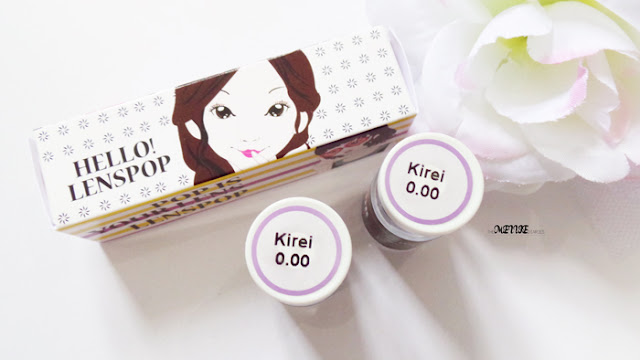 Sponsored Review Circle Len  Kirei Violet (VS) korean contact lenses klenspop