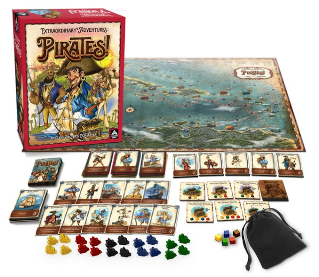 Extraordinary Adventures: Pirates! Board Game by Forbidden Games, Kickstarter Spotlight at Everything Board Games. Image courtesy of Forbidden Games.