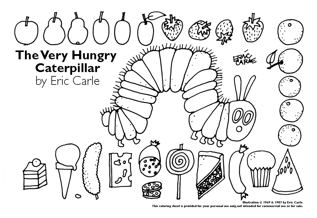 hungry caterpillar coloring pages - photo#5