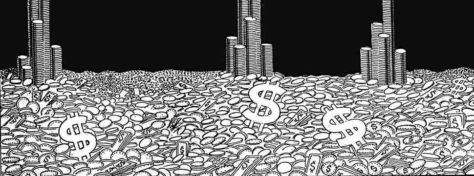 a 1929 illustration of cash money