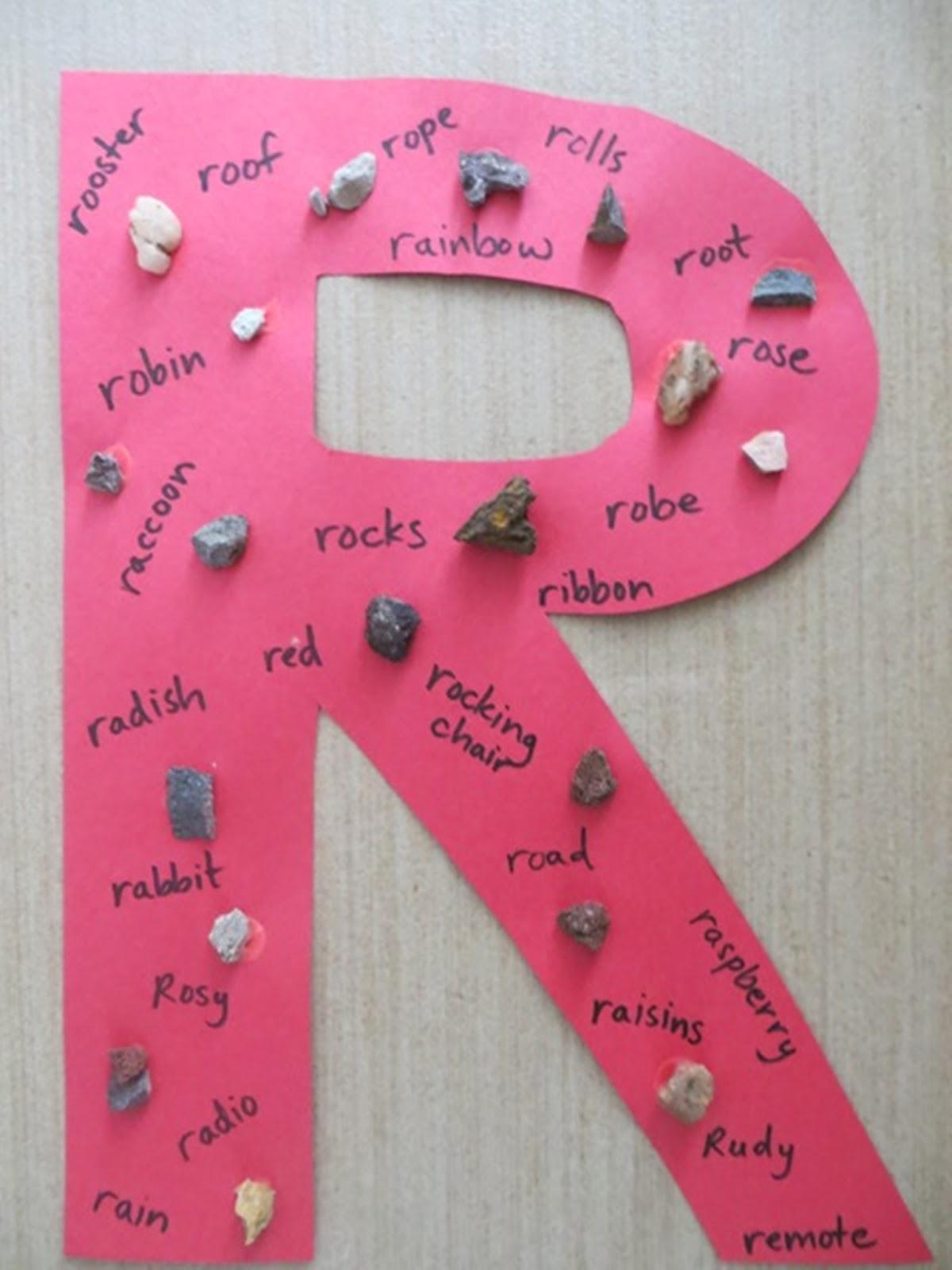 Brainstorm In Bloom Rockin Letter R Alphabet Single Stem Post