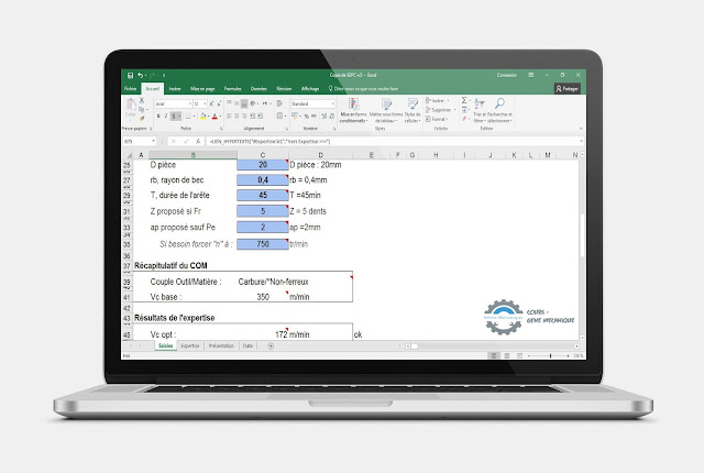 EXCEL PARAMÈTRES CALCULATRICE LES CONDITIONS DE COUPES
