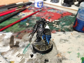 Raven guard 30k test model painting WIP