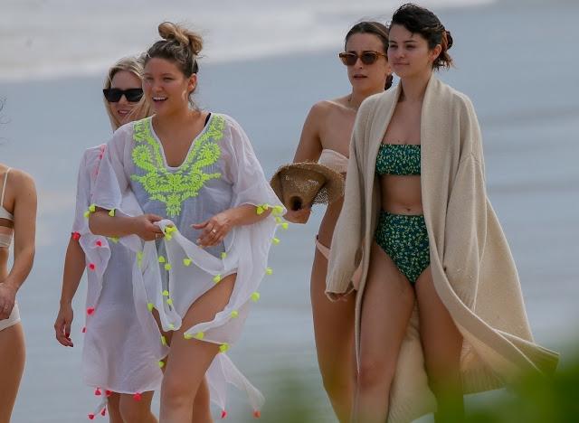 Selena Gomez - Wearing Green Bikini on the Beach in Hawaii
