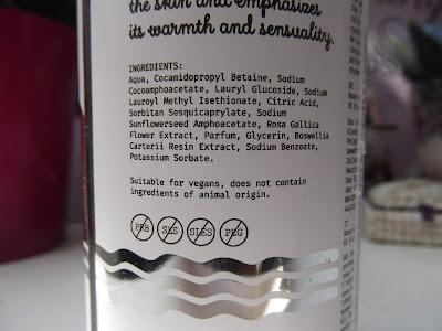 Yope Rose & Boswellia prírodný sprchový gél zloženie