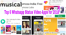 Top 6 Social Media apps / Whatsapp status video apps for 2018