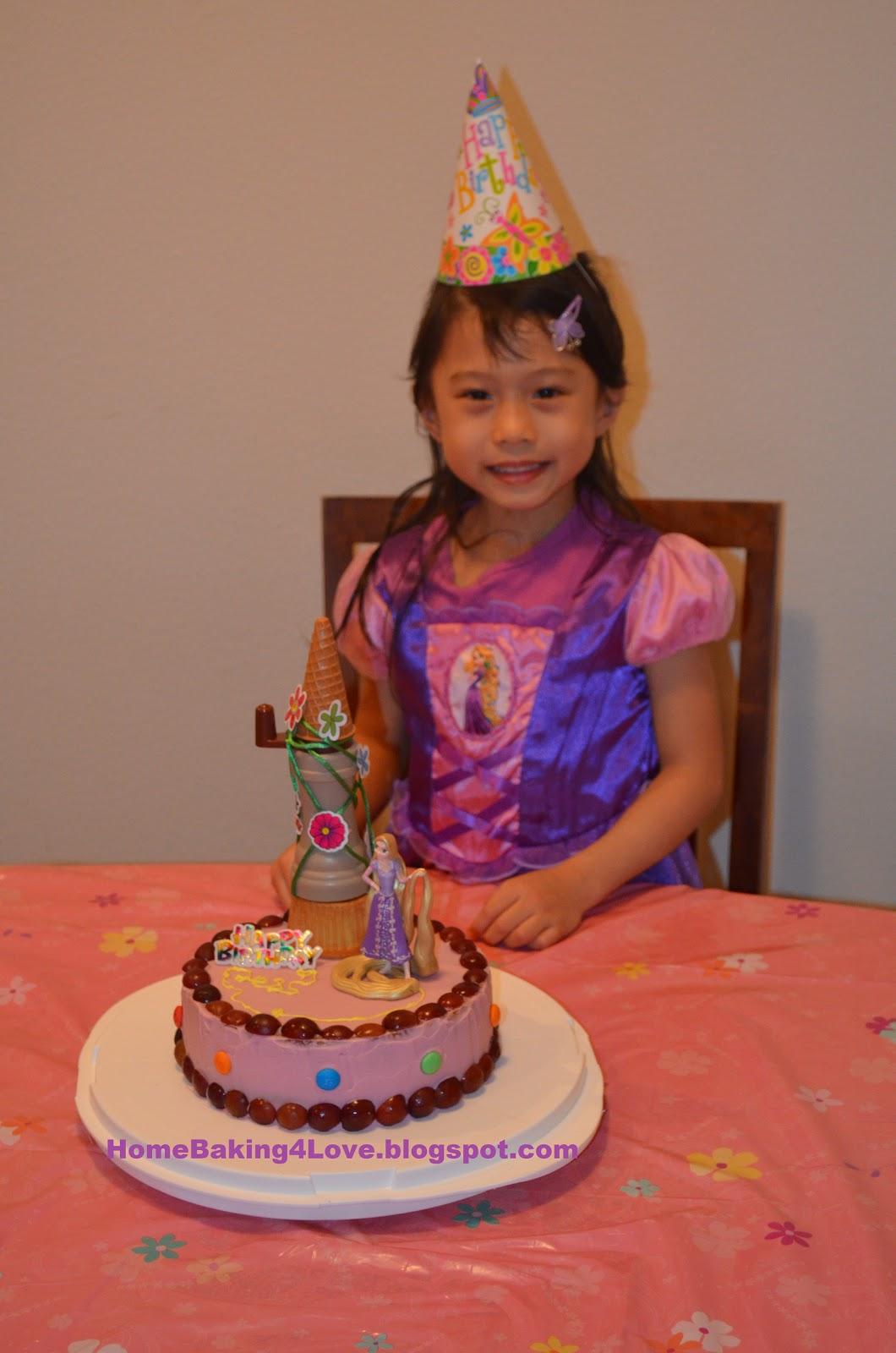 Home Baking 4 Love Homemade Tangled Rapunzel Birthday Cake