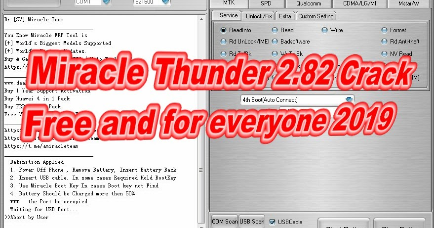 Miracle Thunder 2 82 Crack Free and for everyone 2019