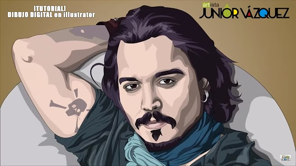 [TUTORIAL]  DIBUJO DIGITAL en illustrator [JOHNNY DEPP][JUNIOR VÁZQUEZ]