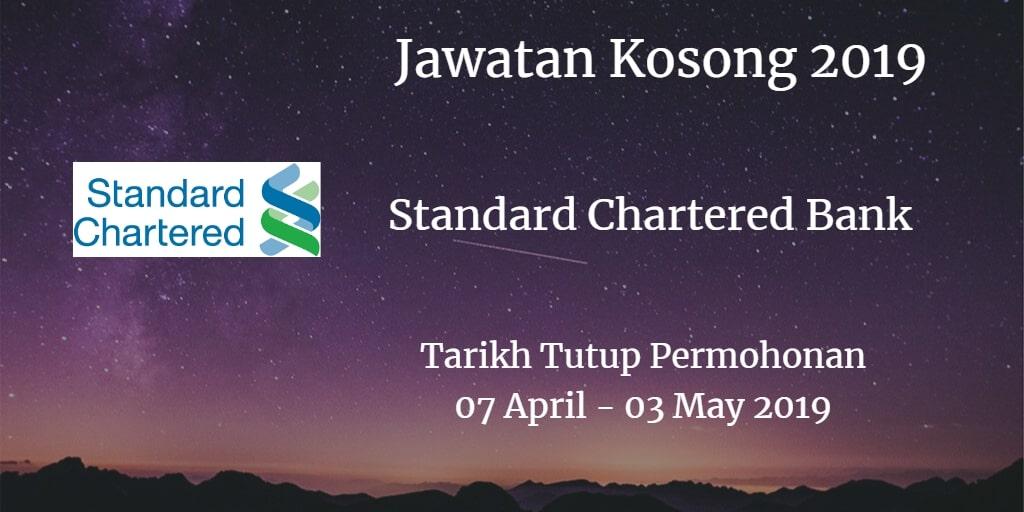 Jawatan Kosong Standard Chartered Bank 07 April - 03 May 2019