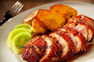daging angsa panggang spesial lezat